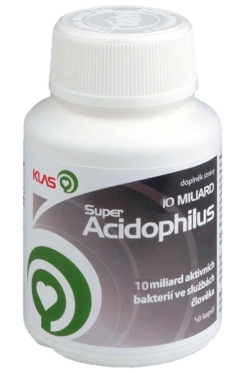 Klas Super Acidophilus KLAS 10 miliard 40 žvýkacích tablet