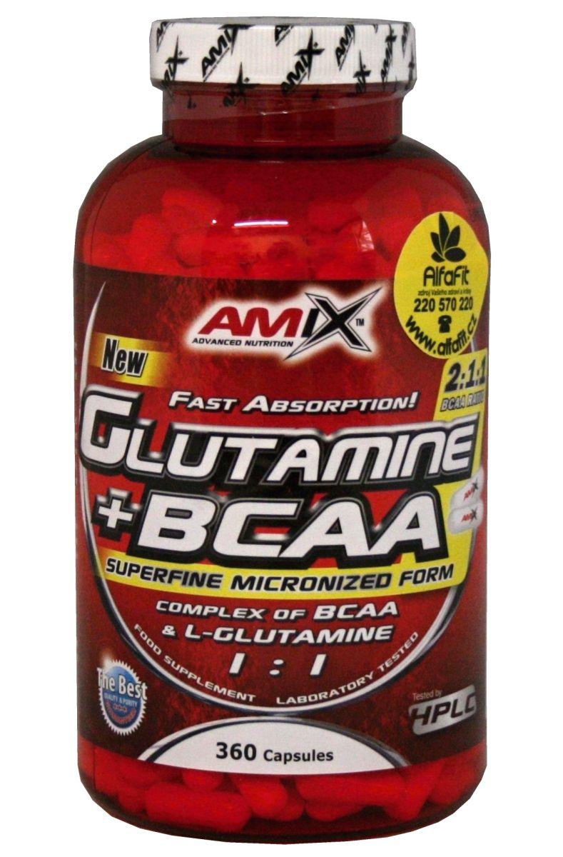 Amix Glutamine + BCAA Powder 360 kapslí