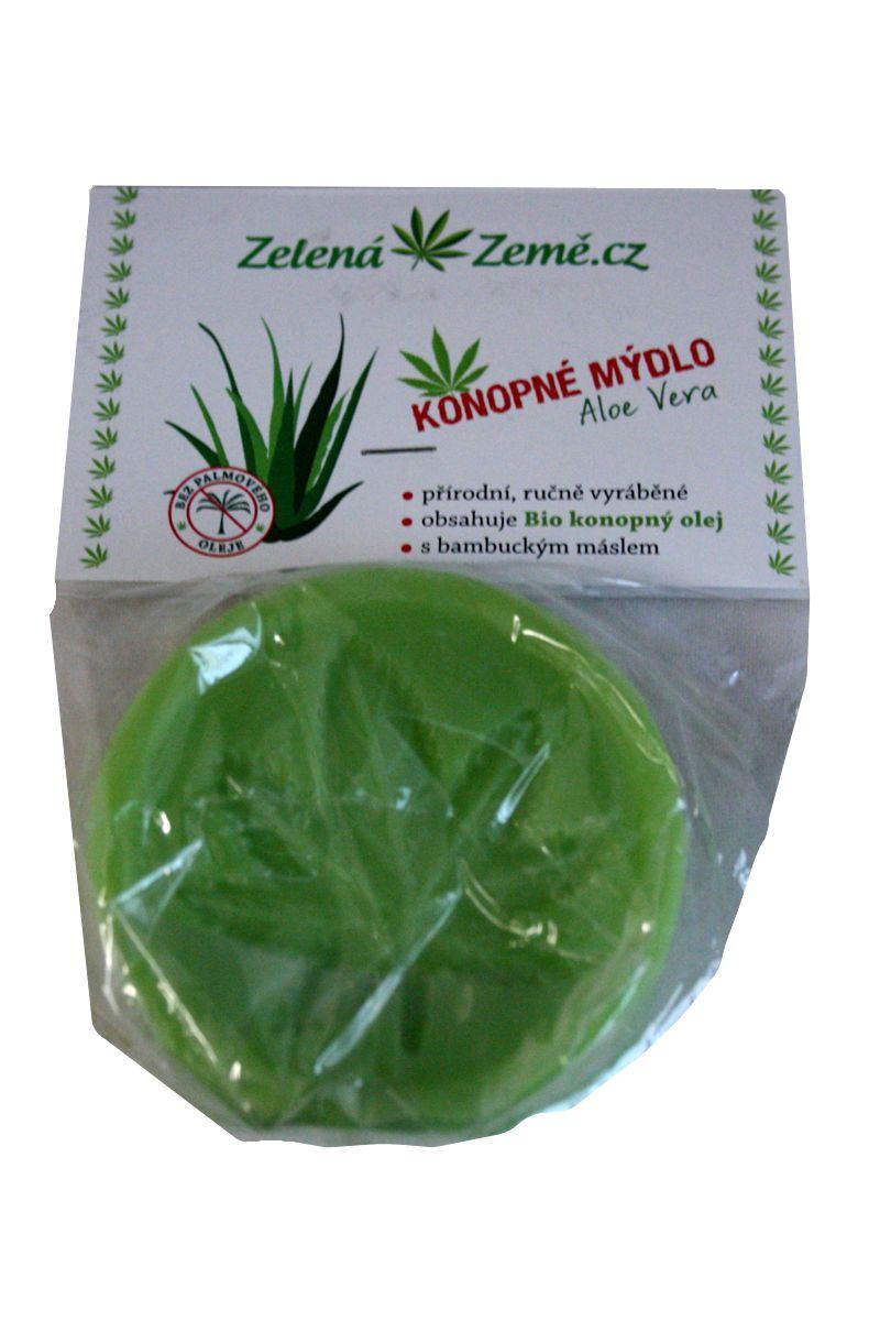 Zelená Země Hanfseife mit Aloe Vera 80 g
