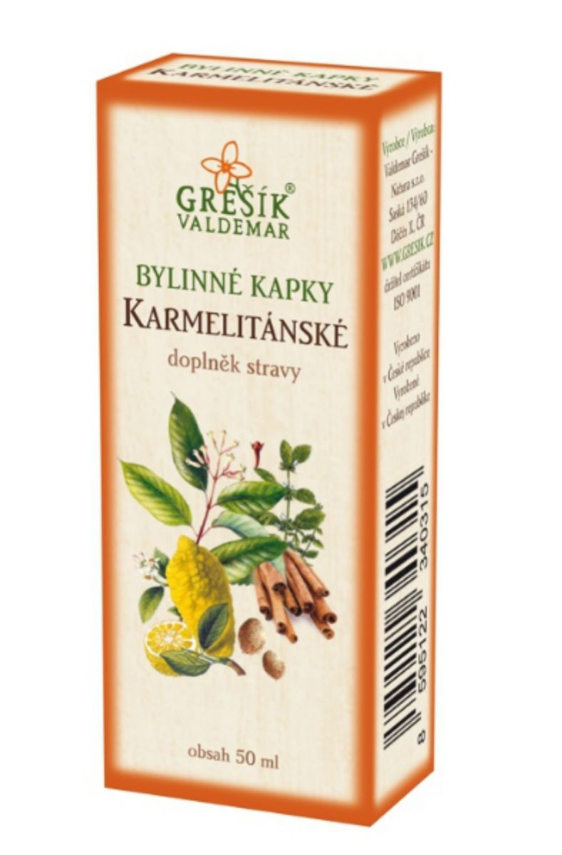 Grešík Karmelitánské bylinné kapky 50 ml