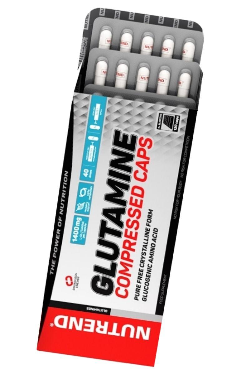 Nutrend GLUTAMINE COMPRESSED CAPS 120 kapslí