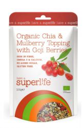 Superlife Organische Chia & Maulbeer Topping mit Goji 200 g