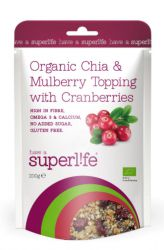 Superlife Organic Chia & Maulbeer Topping mit Preiselbeeren 200 g