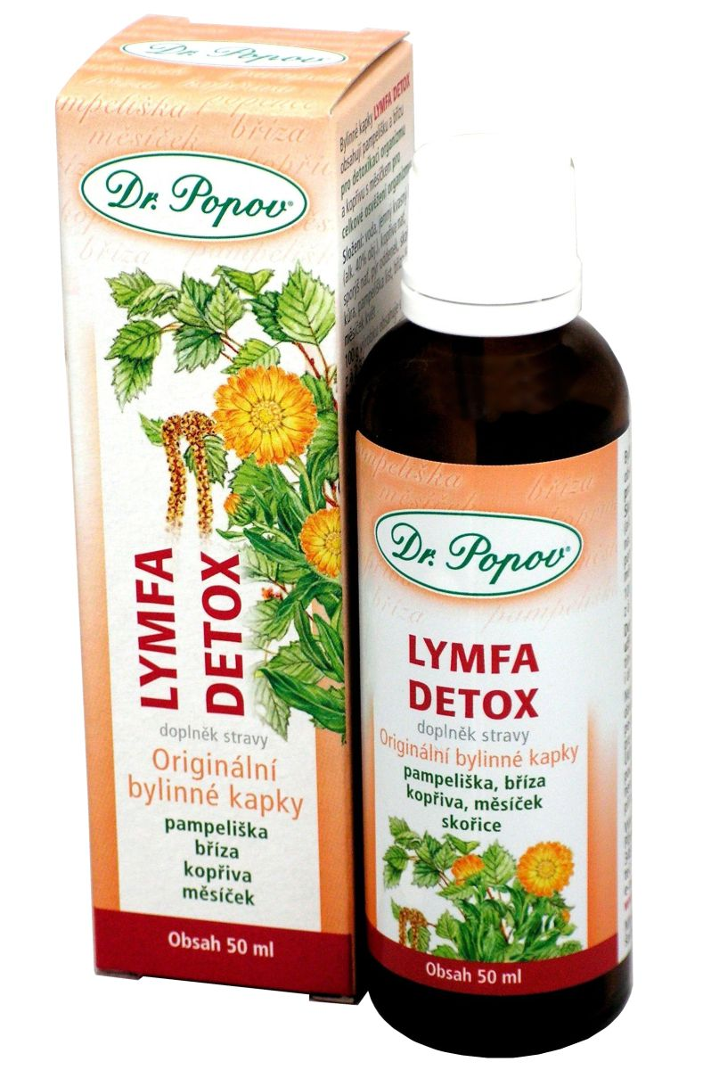 Dr. Popov Lymfa Detox 50 ml bylinné kapky