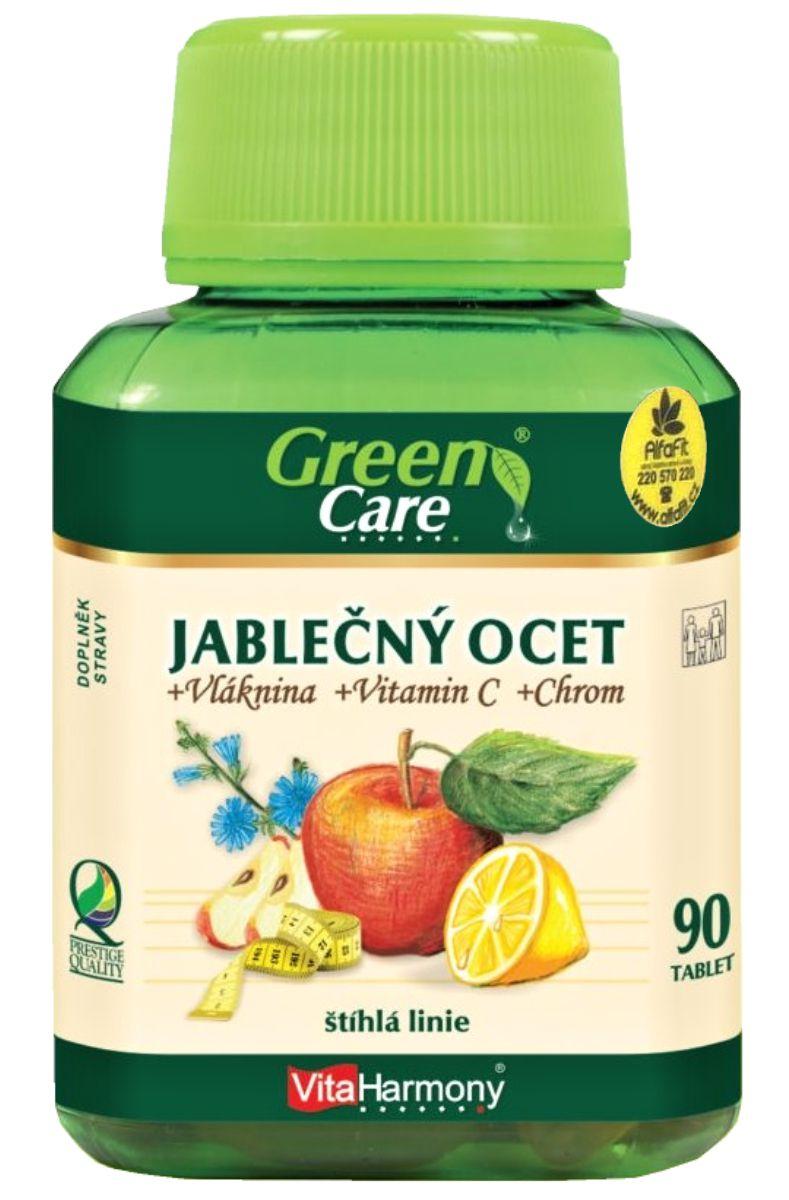 VitaHarmony Jablečný ocet & vláknina & vitamín C & Chrom 90 tablet