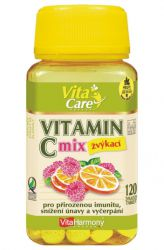 VitaHarmony Vitamín C 100 mg - 120 Tabletten ─ Orange & Himbeere