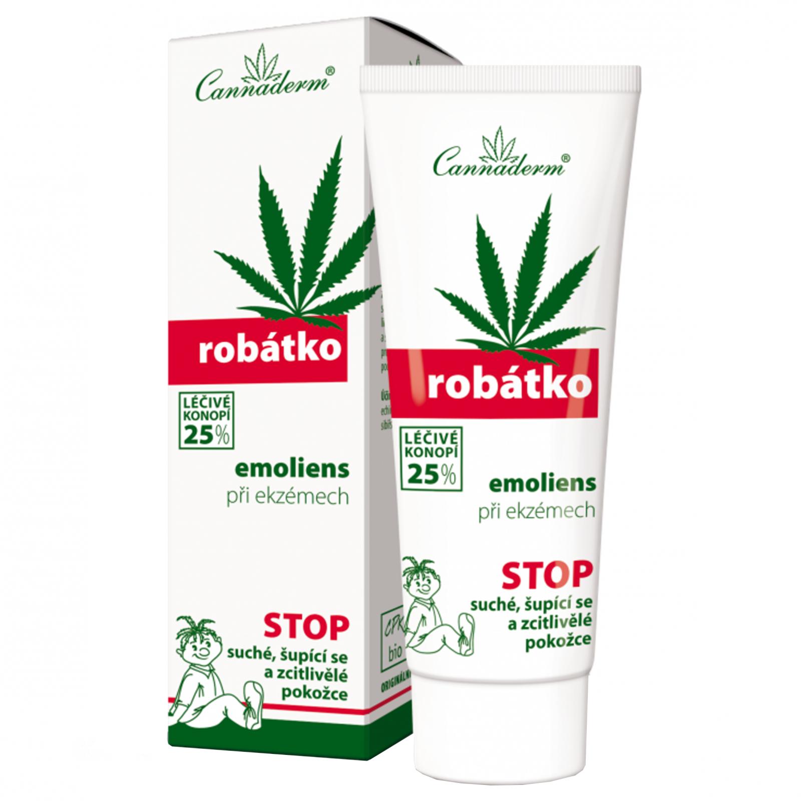 Cannaderm Robátko - promazávací emoliens při atopii 75 g krabička