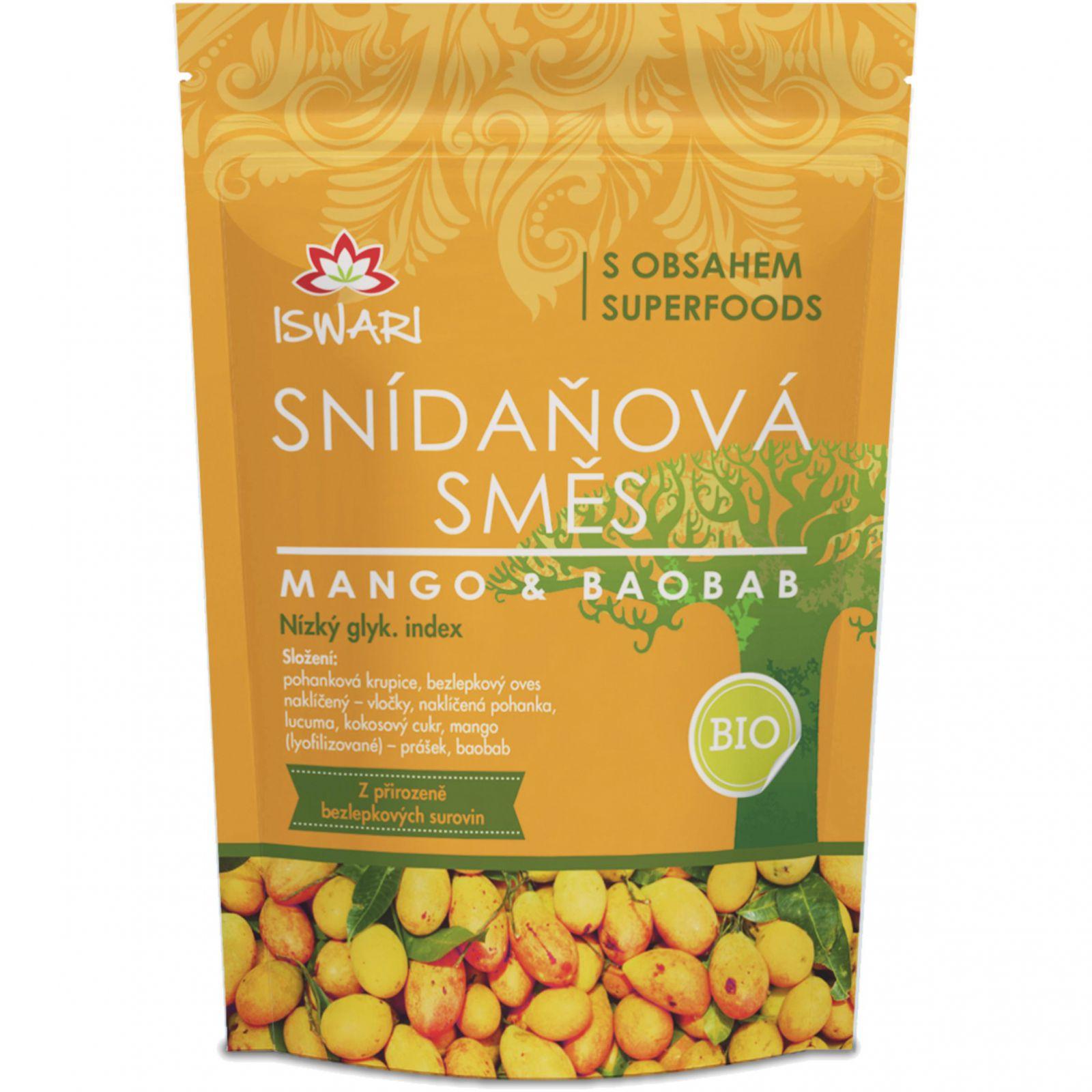 Iswari BIO Snídaňová směs 300 g - mango & baobab