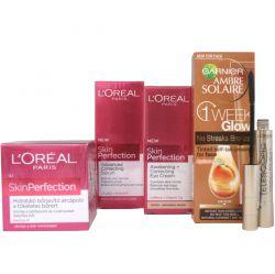 L'Oréal Paris Beauty Skin Perfection Kit + Toning Cream & Mascara FREE