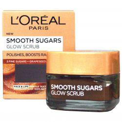 L'Oréal Paris Smooth Sugars Glow Scrub ─ sanftes aufhellendes Zuckerpeeling 50 ml