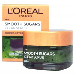 L'Oréal Paris Smooth Sugars Clear Scrub - Feinwäsche Zucker Peeling 50 ml
