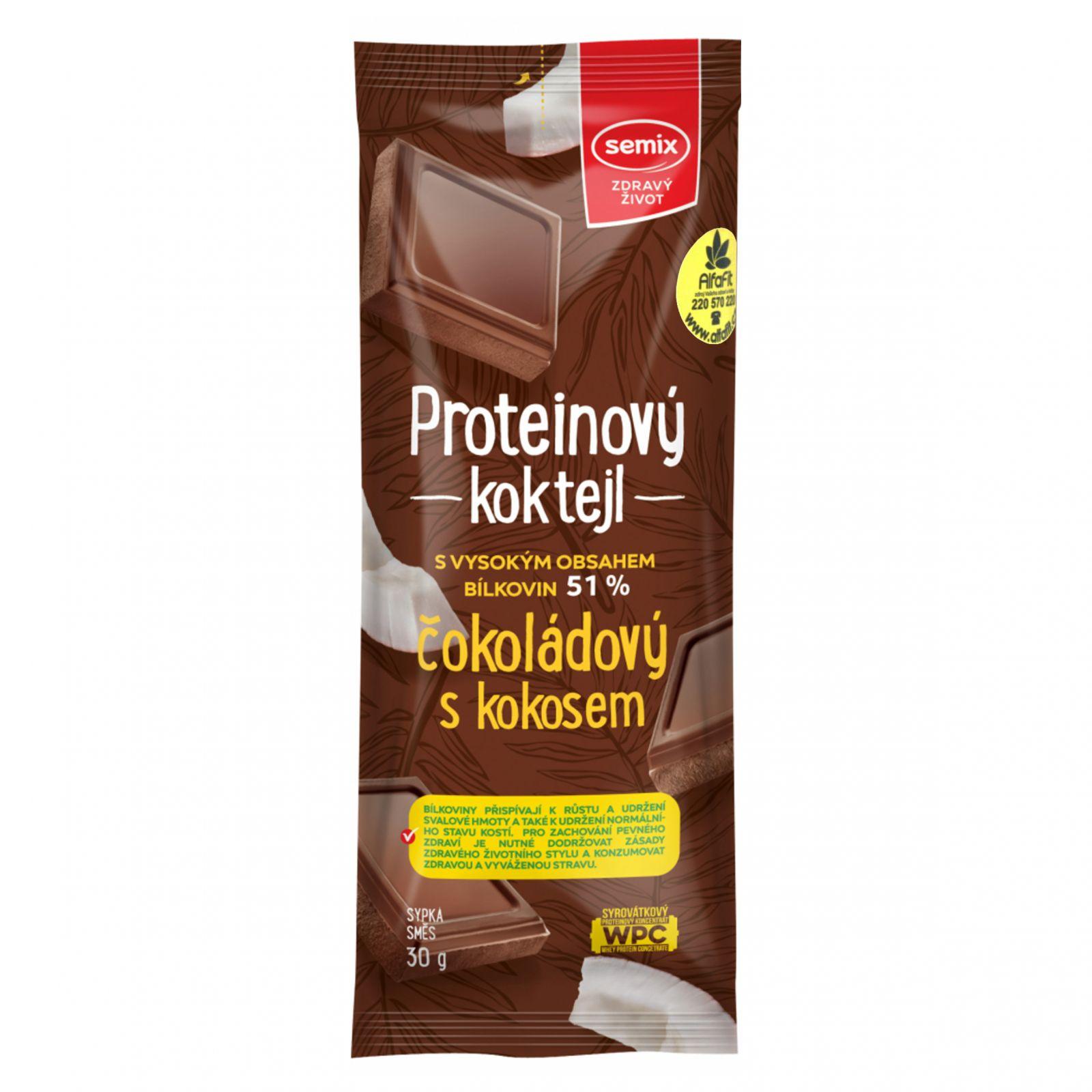 Semix Proteinový koktejl čokoládový s kokosem 30 g