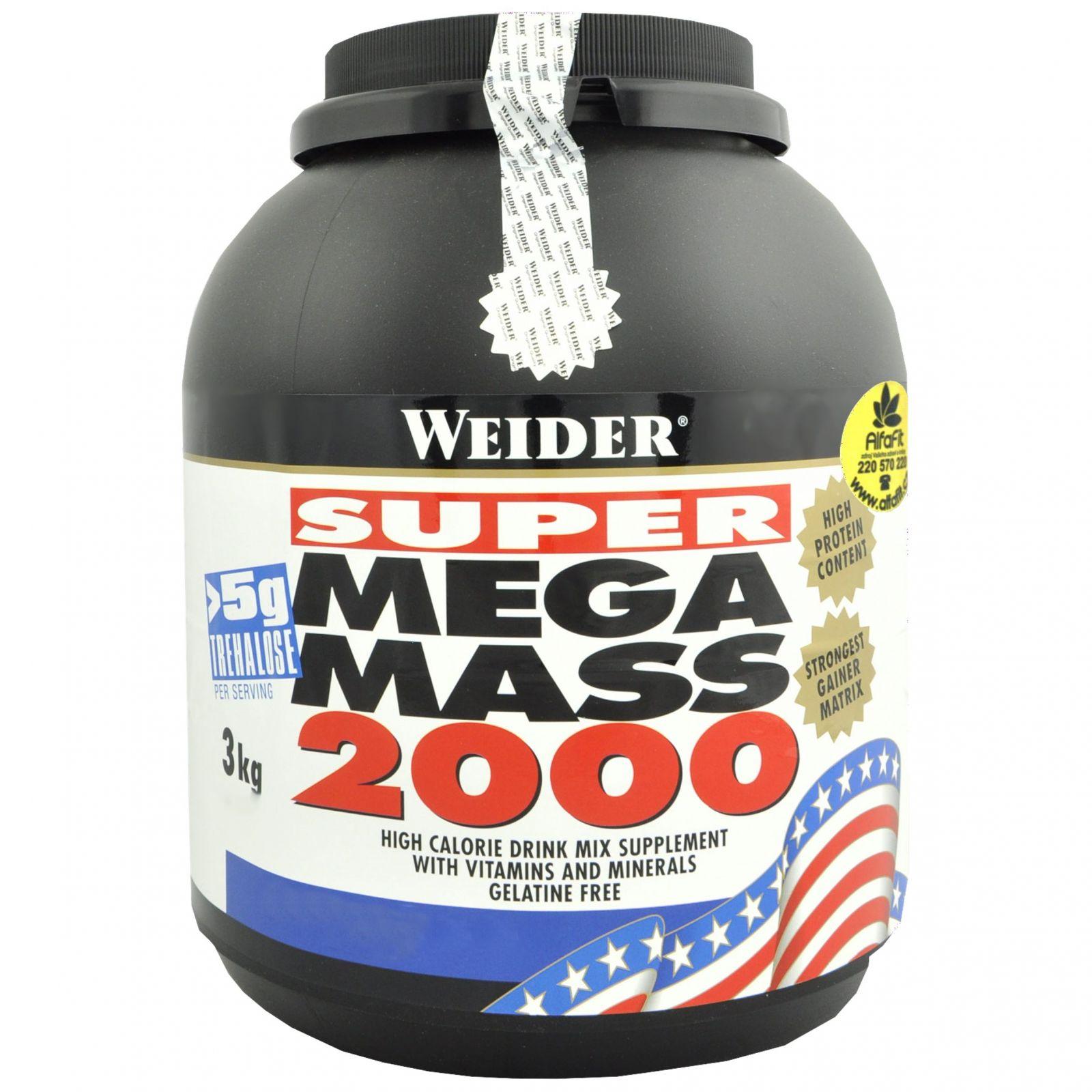 Weider Super Mega Mass 2000 - 3000 g