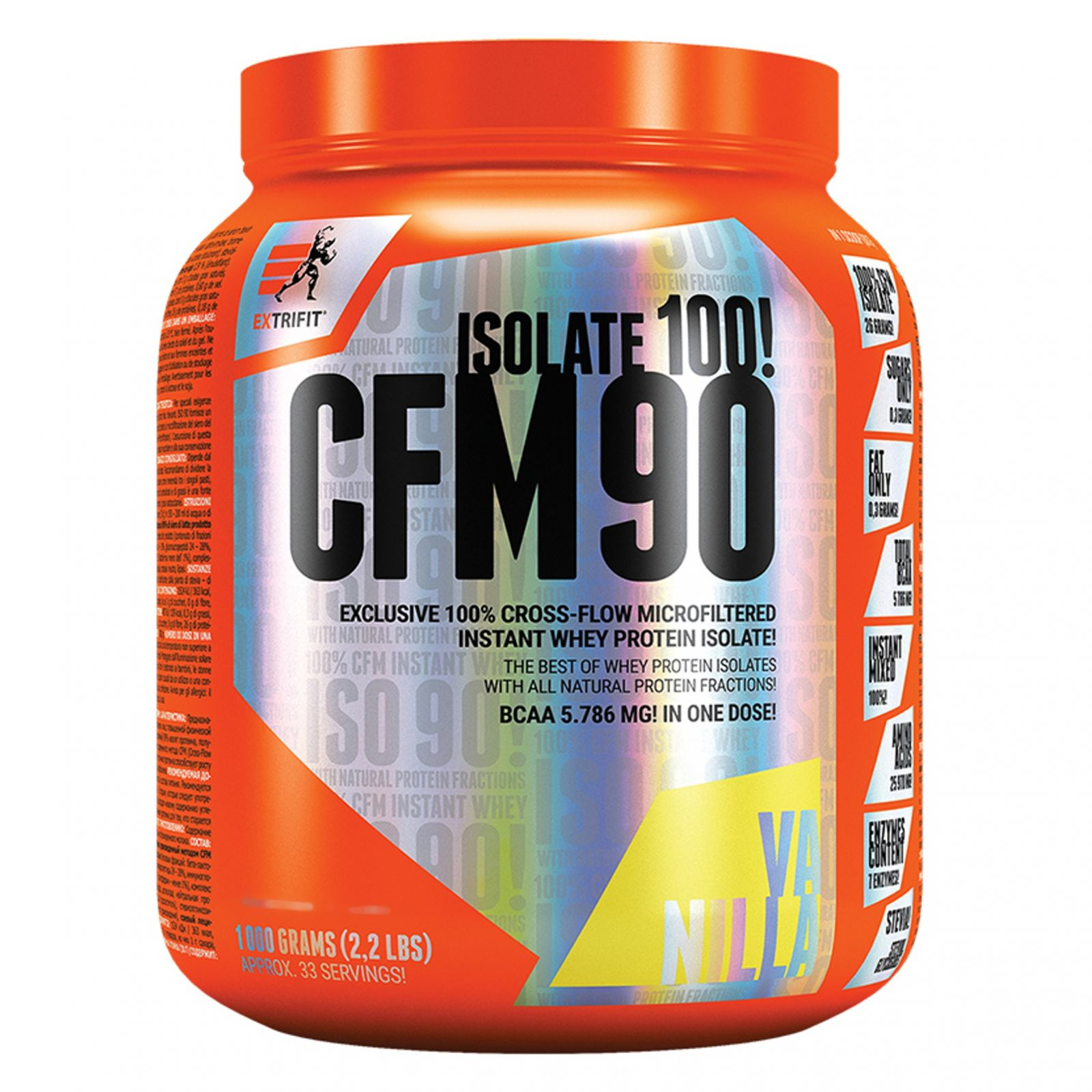 Extrifit ISO 90 CFM Instant Whey - 1000 g