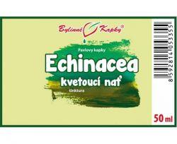Bylinné kapky Echinacea - kvetoucí nať etiketa