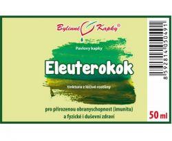 Bylinné kapky Eleuterokok - etiketa