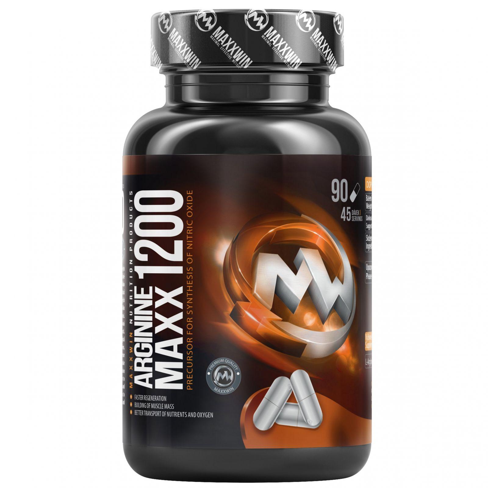 MAXXWIN Arginine Maxx 1200 mg - 90 kapslí