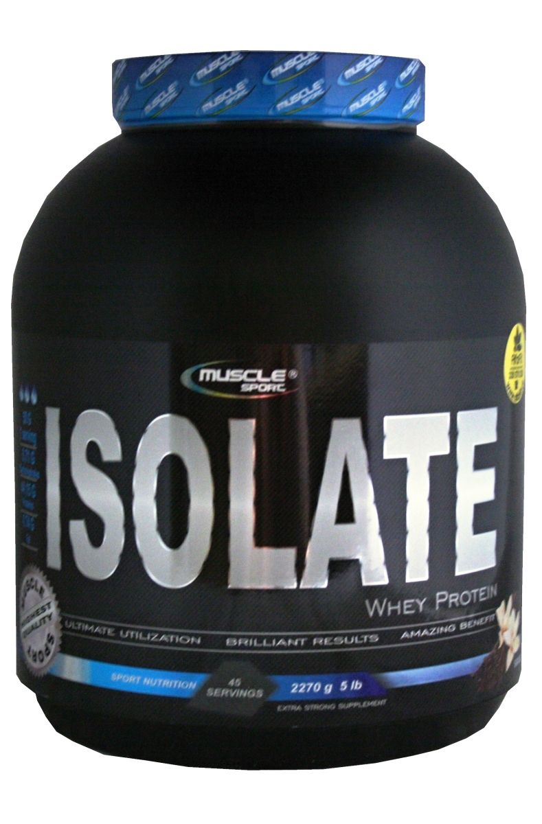 Muscle Sport Whey Isolate 2270 g - Geschmack Banane (exp.: 22/11/2021)