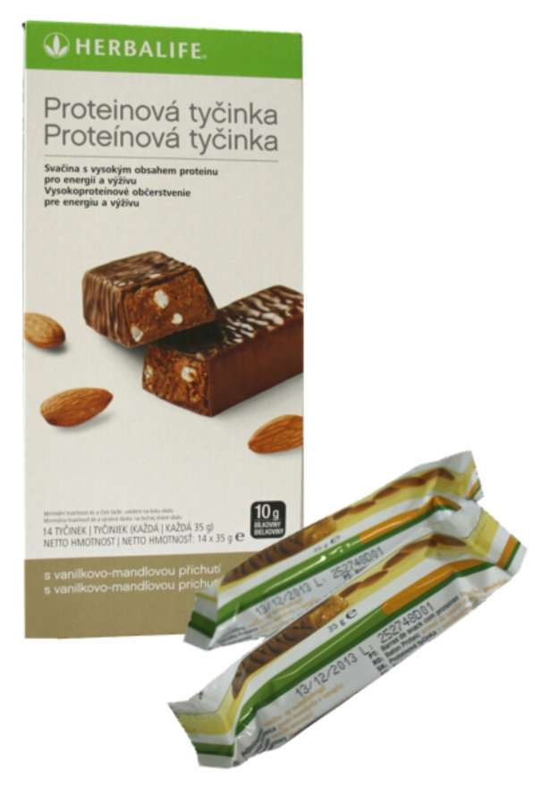 Proteinové tyčinky Herbalife 14x 35 g - vanilka/ mandle