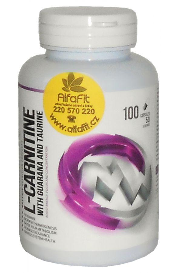 MAXXWIN L-Carnitine + Guarana + Taurine 100 kapslí