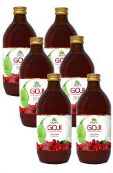 SET 6x AlfaFit Goji 100% Bio─Saft 500 ml